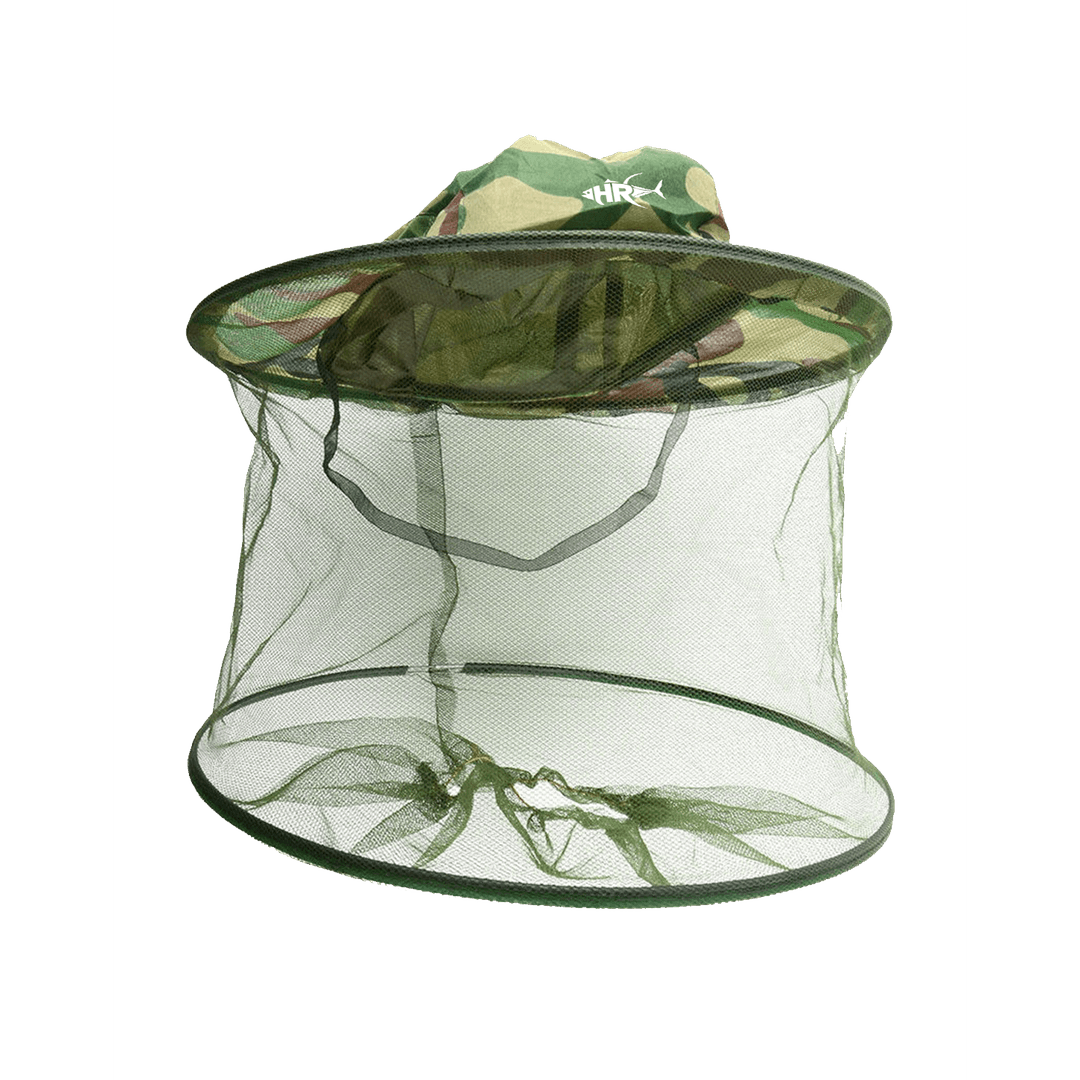 Outdoor Anti-bite Cap Net Fly Insect Bee Face Protection Hat Smock Camouflage