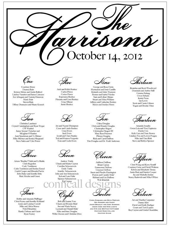 blackandwhitewedding Wedding seating chart seating template – Free Seating Chart Template for Wedding Reception
