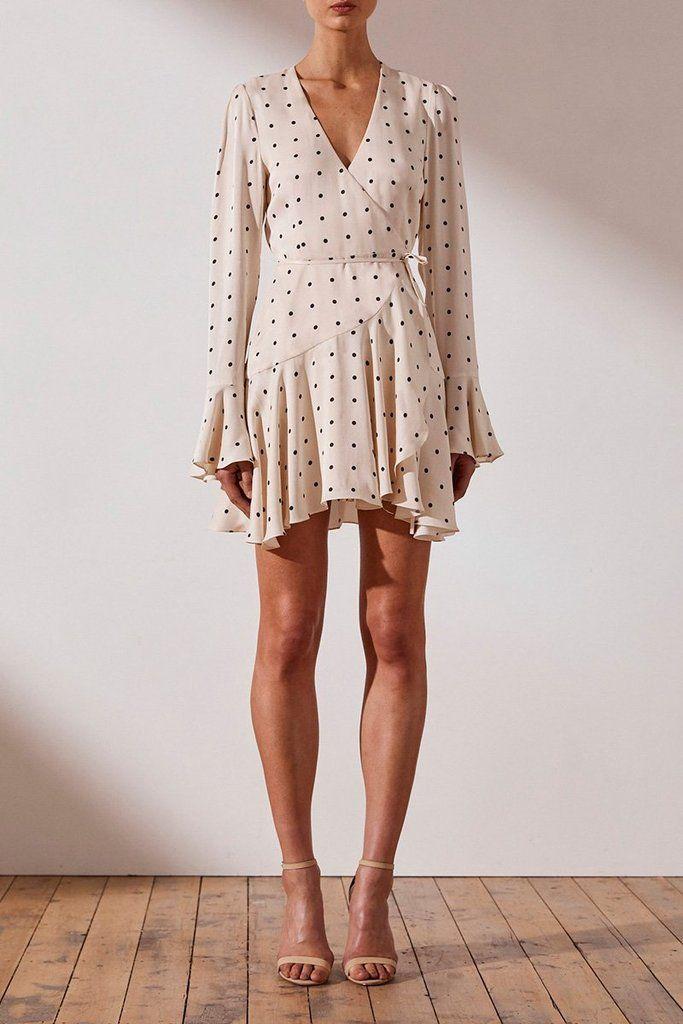 328331480bf9 O'dell wrap mini dress - cream in 2019 | Spring Summer Fashion ...