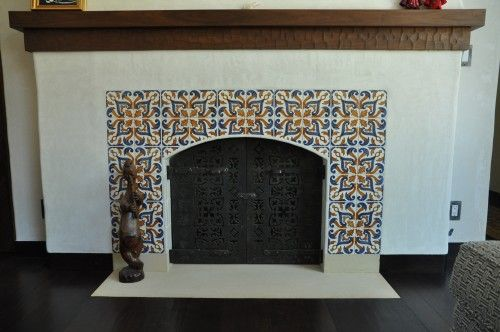 Spanish Fireplace Mexican Tile Fireplace Spanish Interior