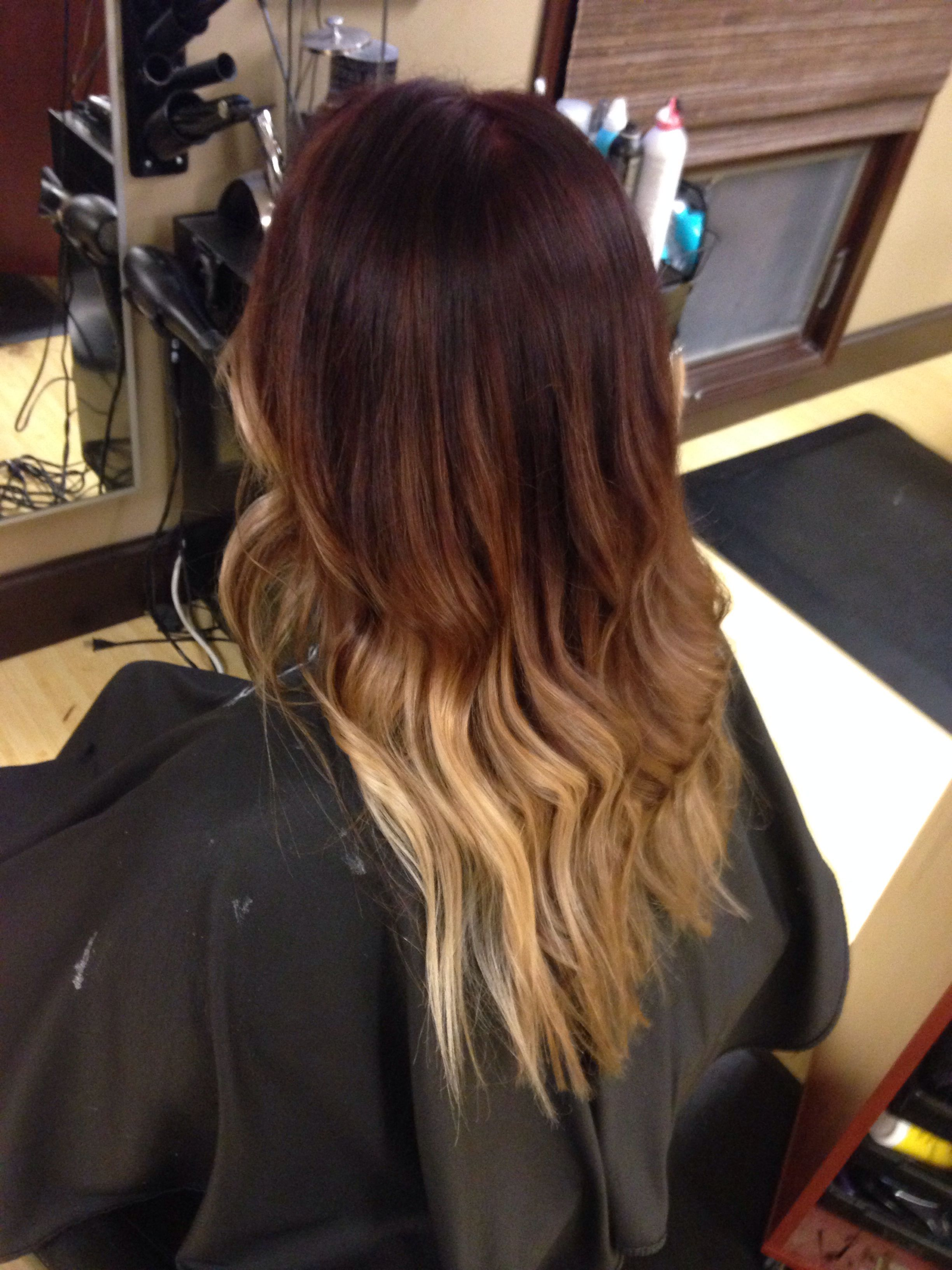 Red Violet To Blonde Ombre Hair Styles Blonde Ombre
