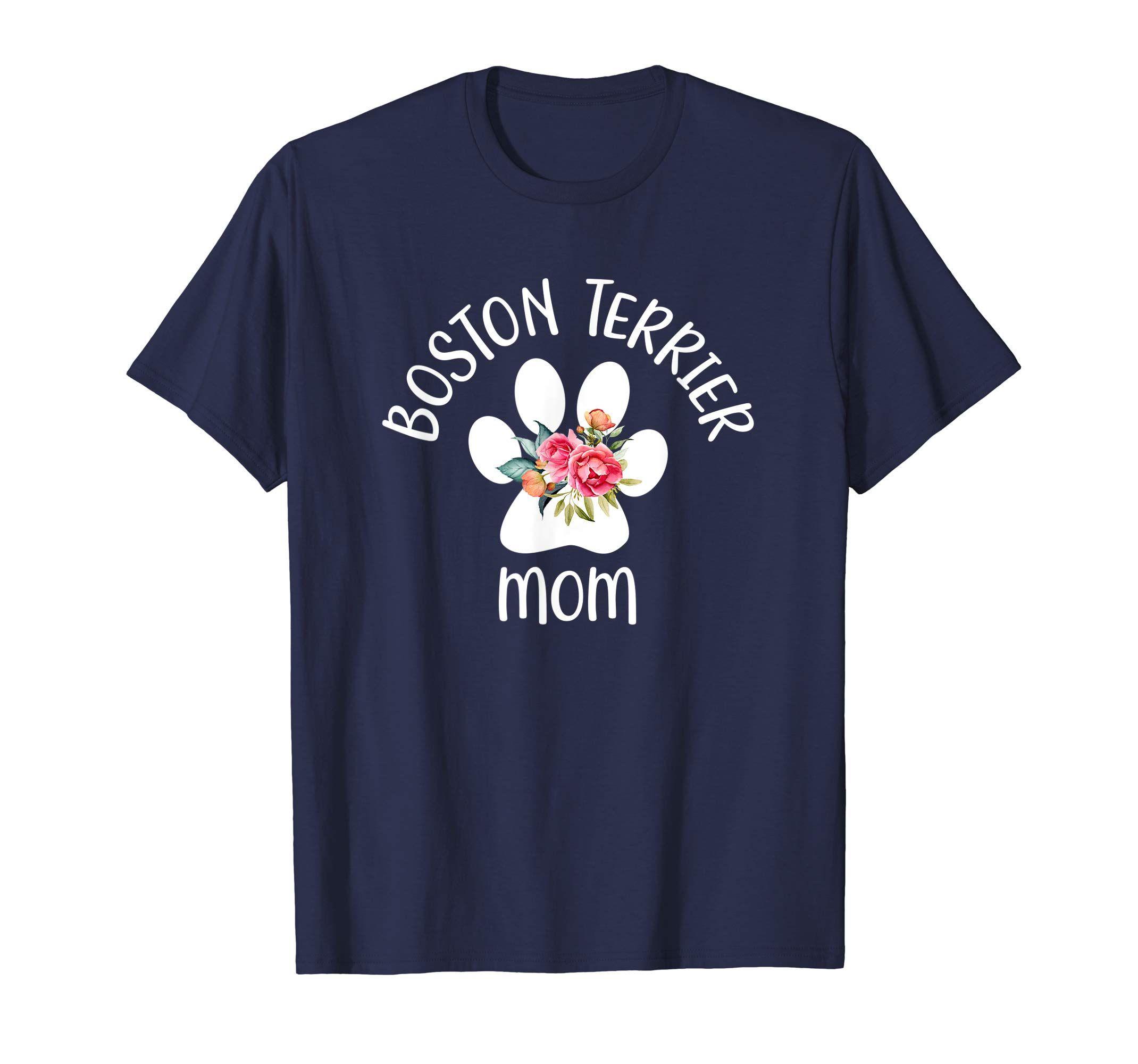 Boston terrier mom t shirt gift for women wife