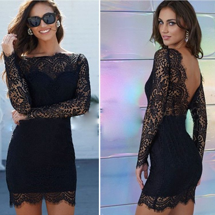 Backless Petite Cocktail Dresses with Lace