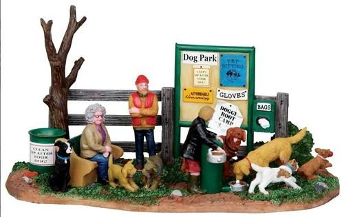 Lemax Village Collection Dog Park Dogs People Christmas Table Decor Figural New   eBay