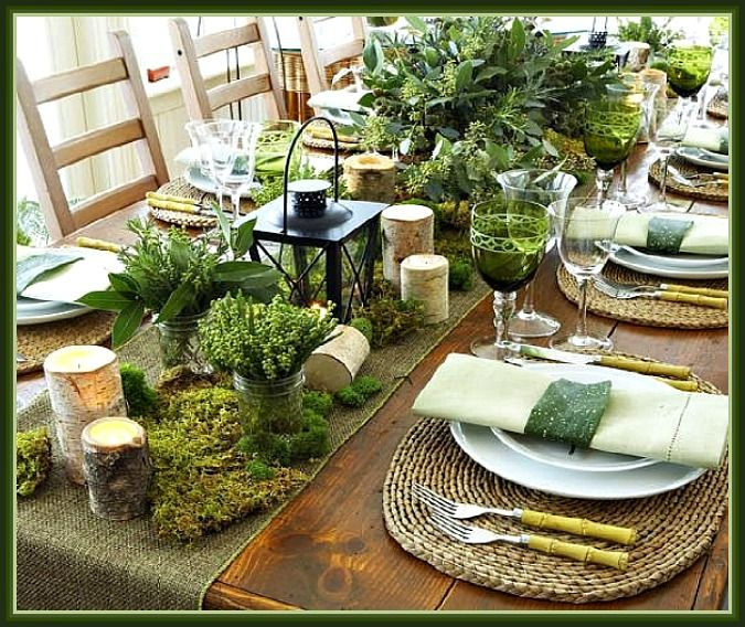 Donu0027t Be Afraid To Combining Rustic And Refined, Old And New, And. Rustic  Table SettingsGreen ...