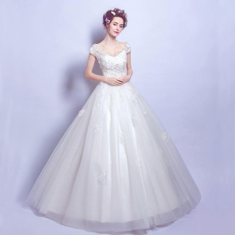 Click to buy ucuc highend custom new ivory wedding dress bride eugen