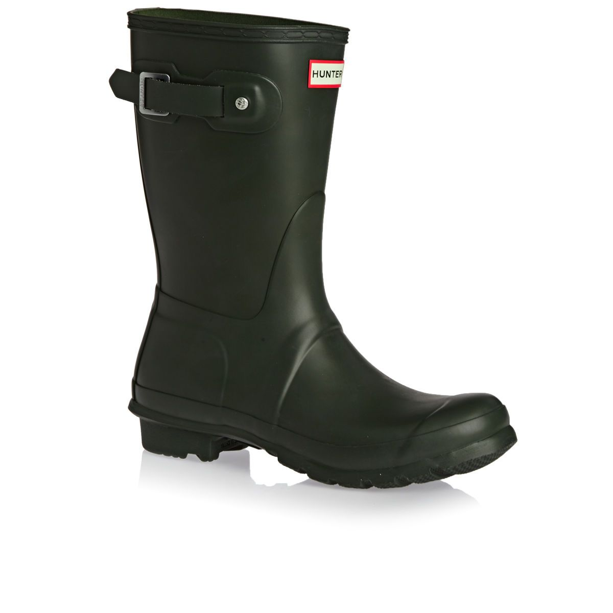 Buy Hunter Womens Original Short Wellington Boots Dark Olive with great  prices at surfdome