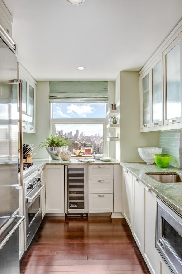 Small Kitchen Spaces 8 ways to make a small kitchen sizzle | green walls, narrow