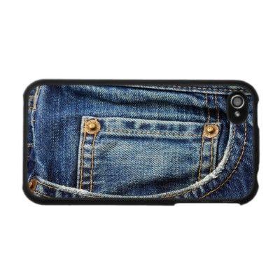 Blue Jeans Pocket Iphone 4 Skin