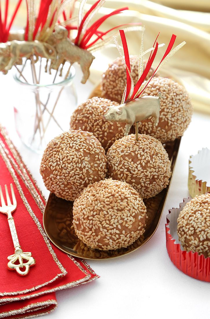 Fried Sesame Balls for Chinese New Year in 2019 | Almond ...