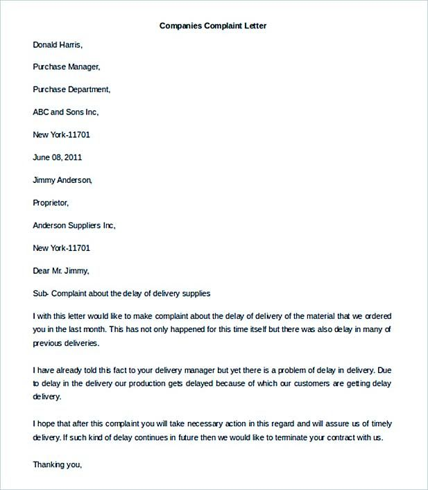Complaint letter template word best 25 formal letter template companies complaint letter template word format home design idea complaint letter template word spiritdancerdesigns Choice Image