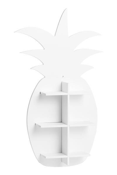 Étagère en bois en forme d ananas. Modèle avec trous prépercés pour la  suspension. Sans visserie. Dimensions cm environ. 2d88acdeece2