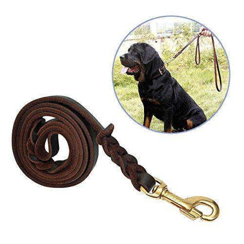 Focuspet Leather Dog Leash 6 Ft Leather Dog Training Leash Pet