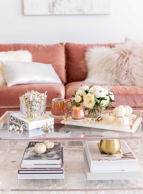 Chic Fall Home Decor Ideas My Fall Essentials Sydne Style Glam Coffee Table Decor Glam Coffee Table Fall Home Decor
