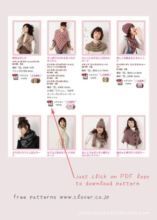 Free Japanese Patterns – Clover » Japanese Sewing, Pattern, Craft ...