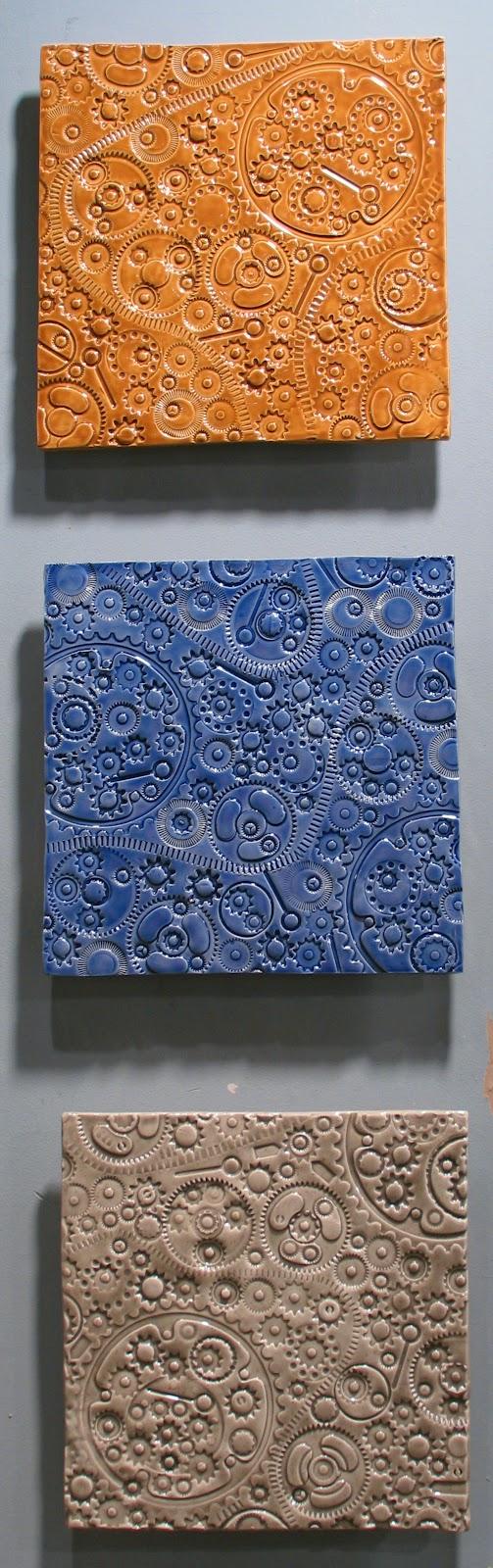 Ceramic tile gear embossed wall art mural by jasonmessingerart ceramic tile gear embossed wall art mural by jasonmessingerart amipublicfo Gallery