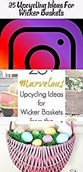 25+ Upcycling Ideas For Wicker Baskets - Pinokyo  Baskets from the thrift store ... #baskets #Ideas #pinokyo #store #thrift #upcycling #Wicker