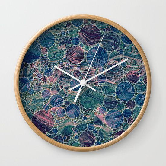 Marble Effect Dots 4 Wall Clock Clock Wall Clock Clock Art