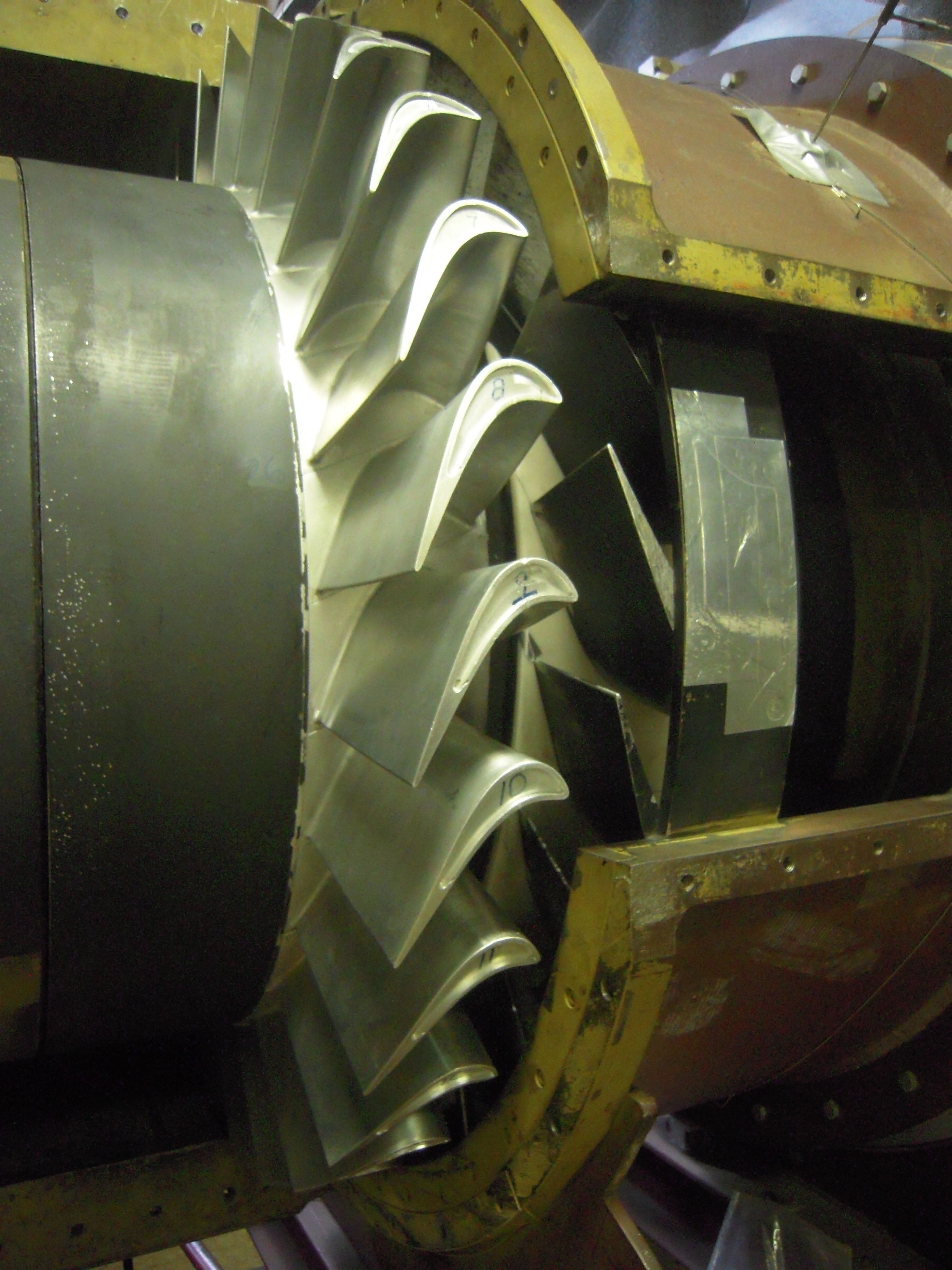 The rotor blade assembly in the large scale Axial Flow Turbine