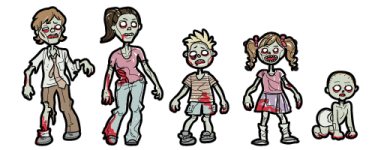 Image result for cute zombie family