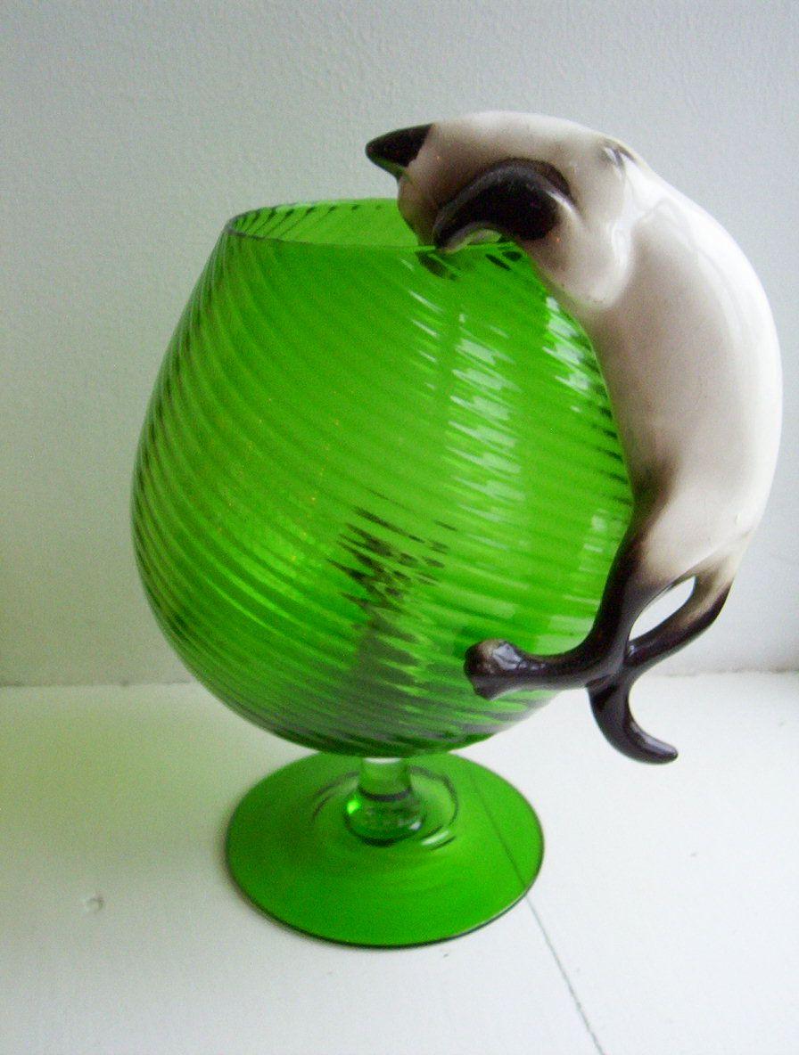 Murano cat mouse brandy glass vase retro 1950 1980 pinterest murano cat mouse brandy glass vase reviewsmspy