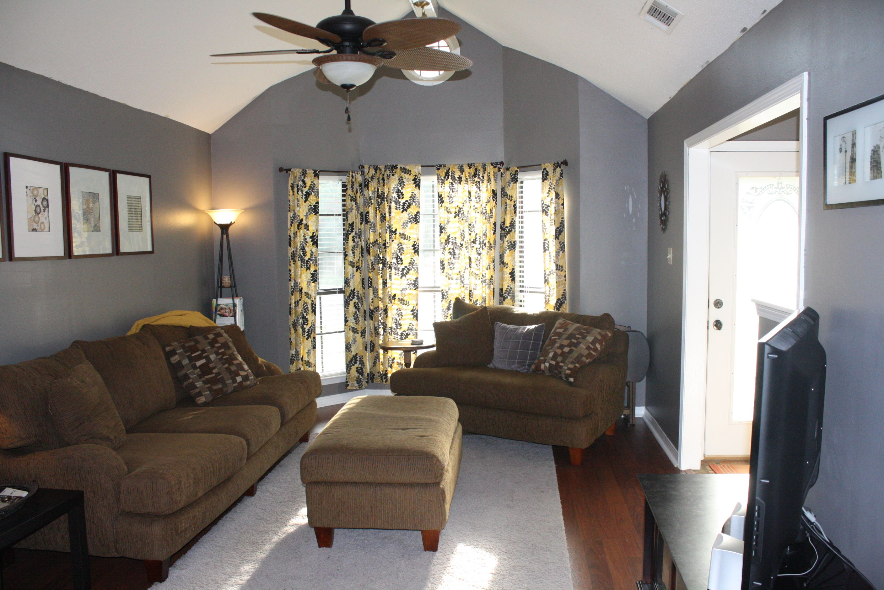 gray and yellow living room  home living room grey and