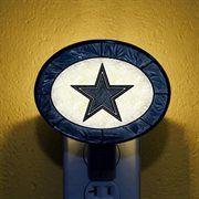 Dallas Cowboys Hand-Painted Glass Nightlight