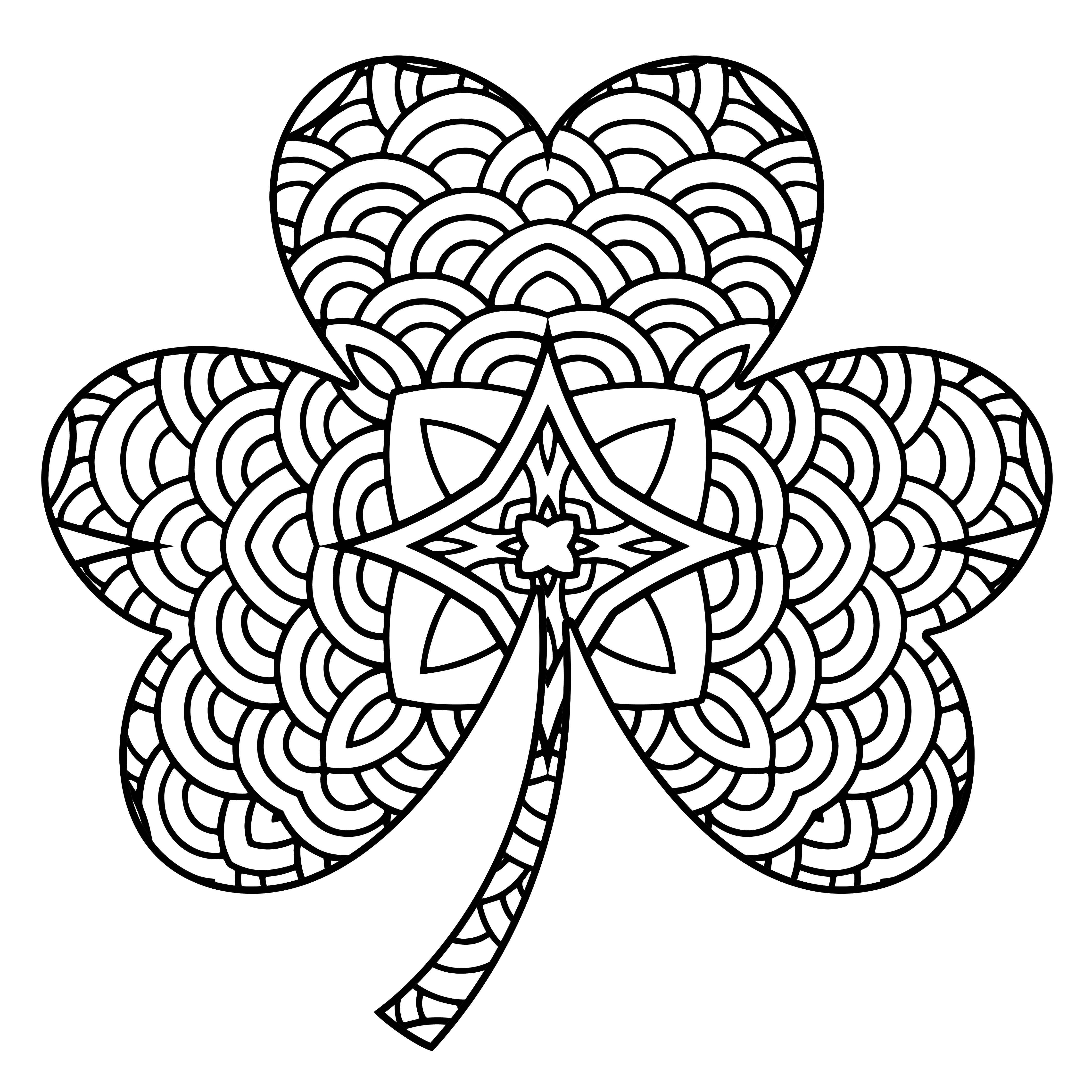 Http Www Allfreeadultcoloringbooks Com Shamrock05 Jpg St Patricks Day Crafts For Kids Blank Coloring Pages Mandala Coloring Pages