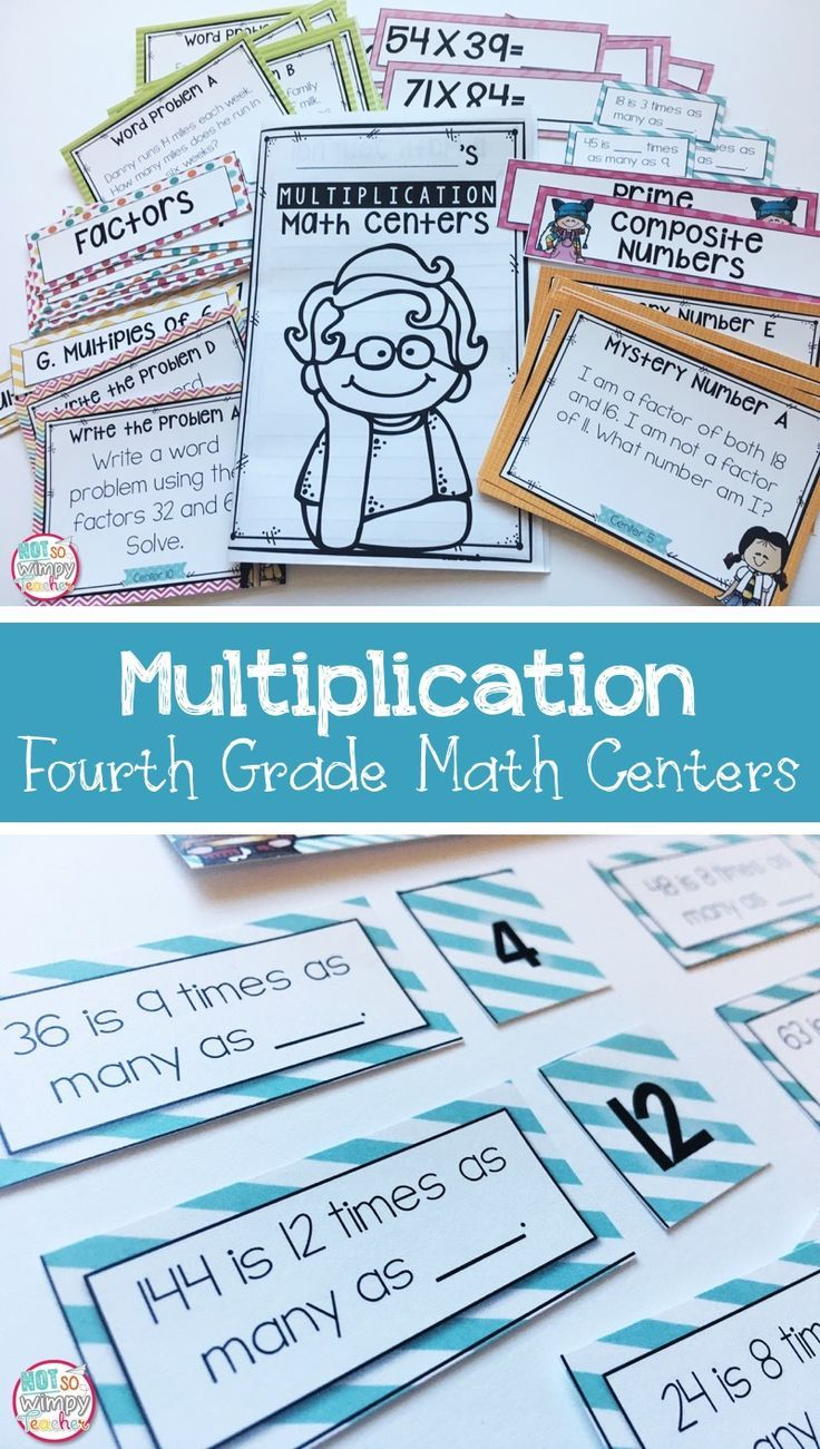 Multiplication Fourth Grade Math Centers | Word problems ...