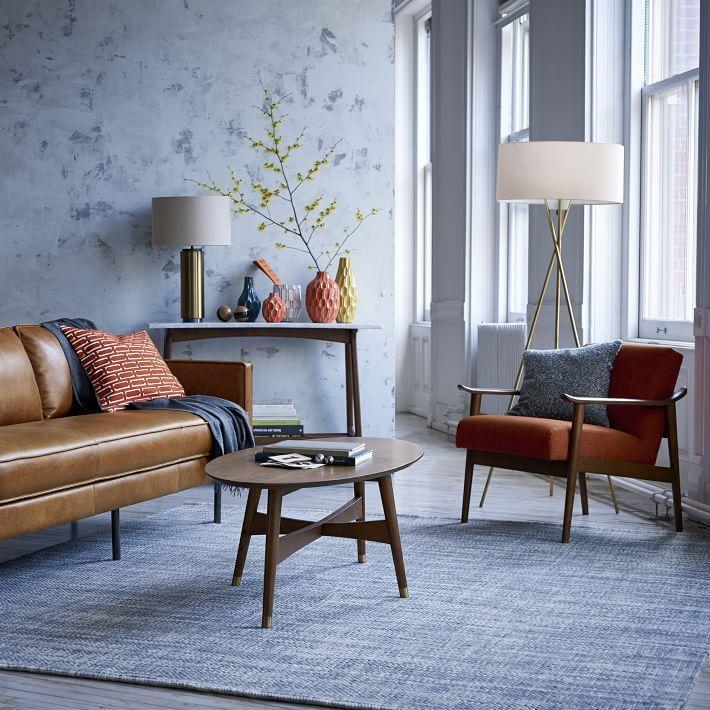 image result for west elm blue mid century rug