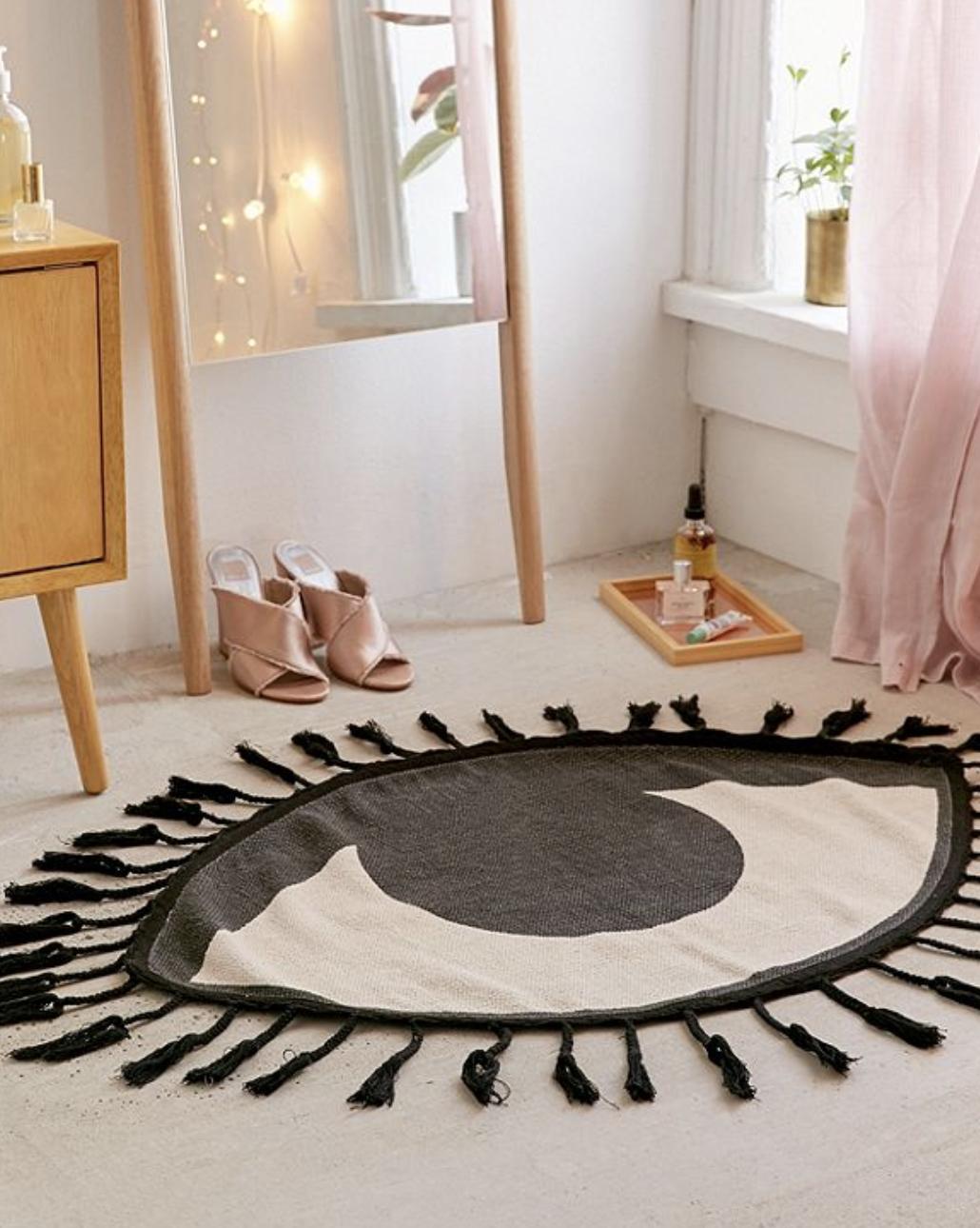 Tasseled Eye Rug College Apartment Decor Dorm Rugs