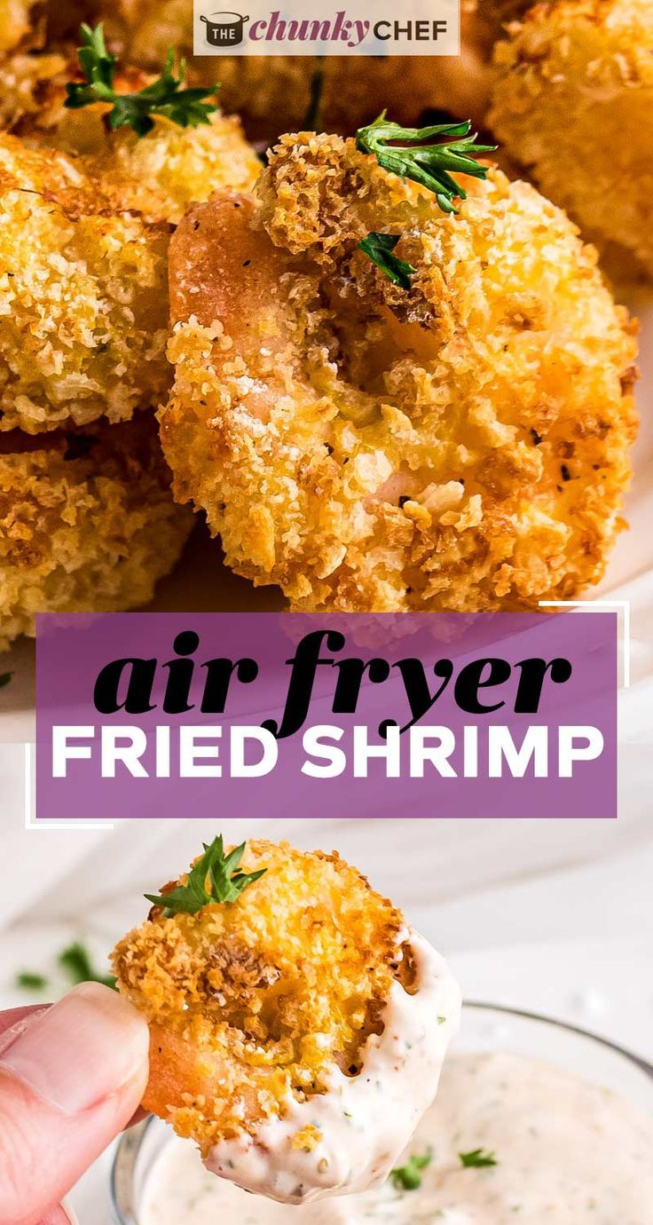 Air Fryer Fried Shrimp (Popcorn Shrimp) The Chunky Chef