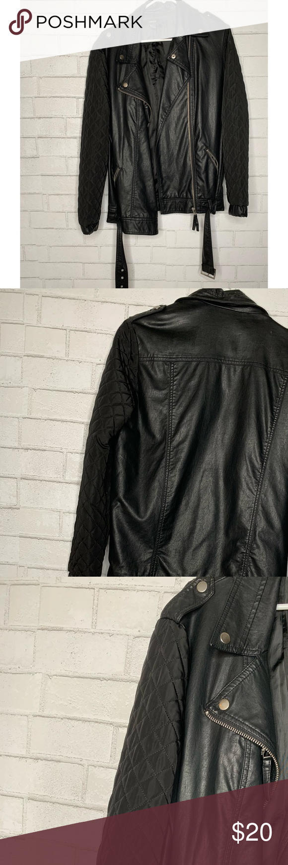 Forever 21 Belted Faux Leather Jacket Forever 21 Belted Faux Leather Jacket Used Size S Forever 21 Jackets Clothes Design Faux Leather Jackets Fashion [ 1740 x 580 Pixel ]