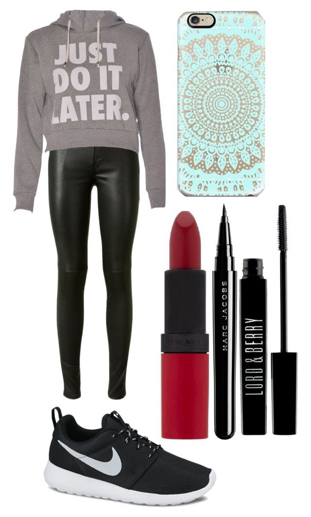 """""""Just do it later"""" by imagine-youtubers ❤ liked on Polyvore featuring beauty, Yves Saint Laurent, NIKE, Rimmel, Marc and Lord & Berry"""