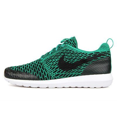 df958f997 Nike Roshe NM Flyknit SE Mens 816531-300 Lucid Green Running Shoes Size 11.5