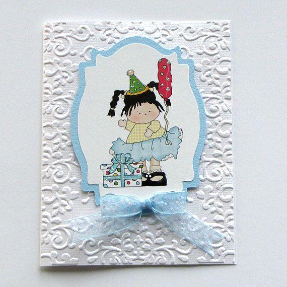 Happy Birthday girl card Greeting Cards birthday by catSCRAPPIN