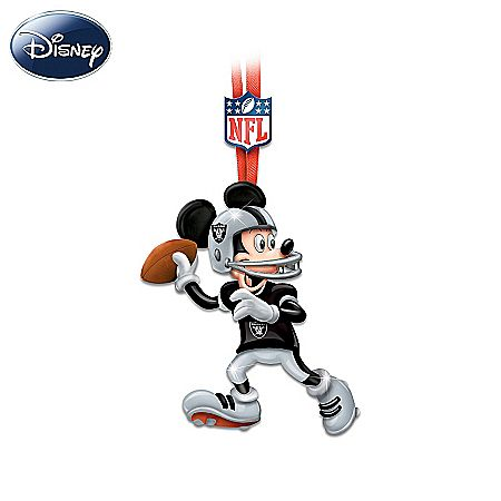NFL Oakland Raiders Magic Disney Character Ornament Collection