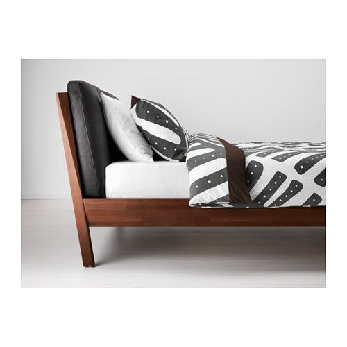 My Absolutely Favorite Ikea Bed The Leather Cushions Turned Legs Beech Finish It S Just So Good