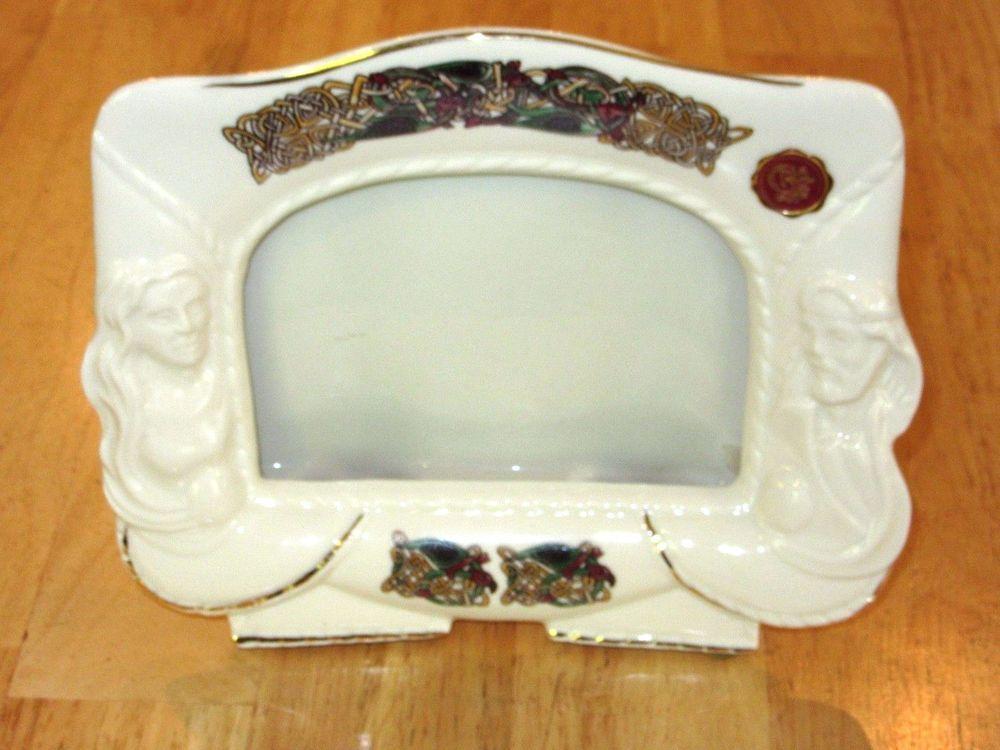 Cre ciara irish porcelain picture frame ireland handpainted joe ...