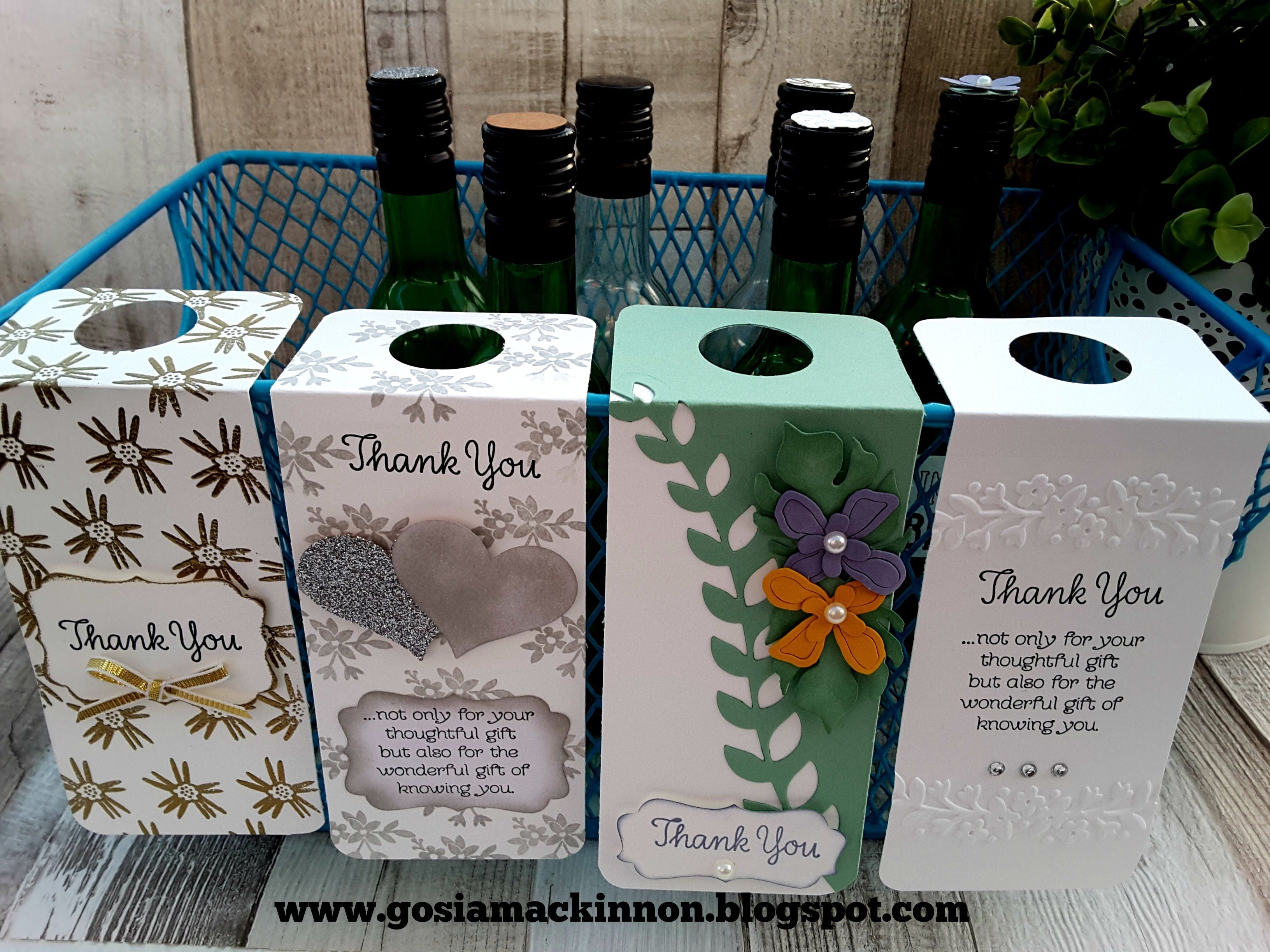 WEDDING FAVOR WINE BOTTLE LABEL & TAGS IDEA WITH STAMPIN ' UP!