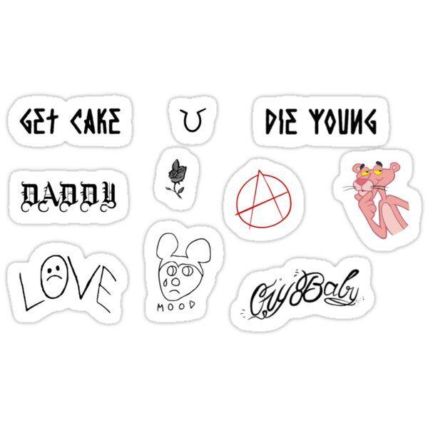 Set Of Lil Peep Tattoos Sticker By Dumontbast In 2021 Lil Peep Tattoos Daddy Tattoos Lil Peep Beamerboy