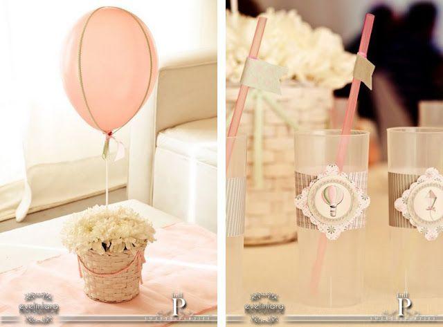 hot air balloon and kite birthday