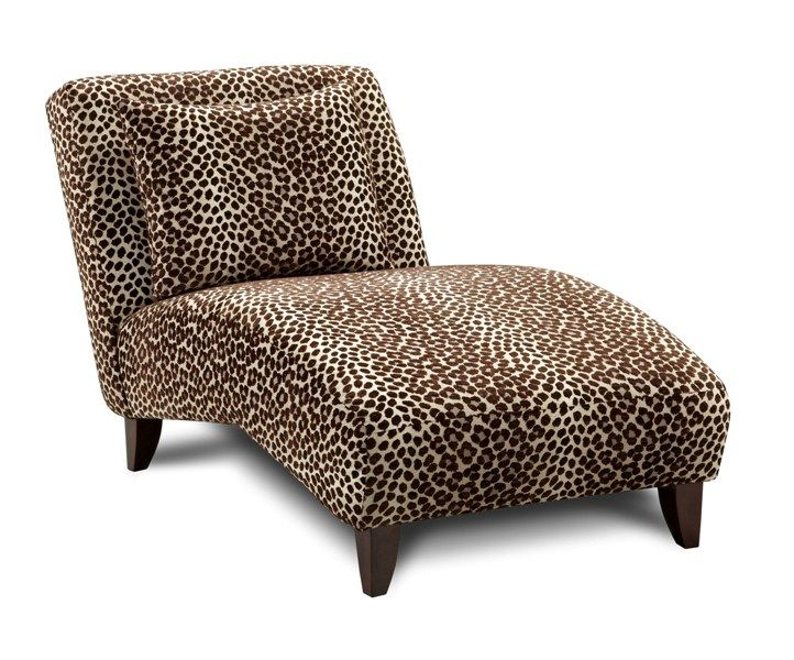 Leopard Print Chaise Furniture Accent Chairs For Sale