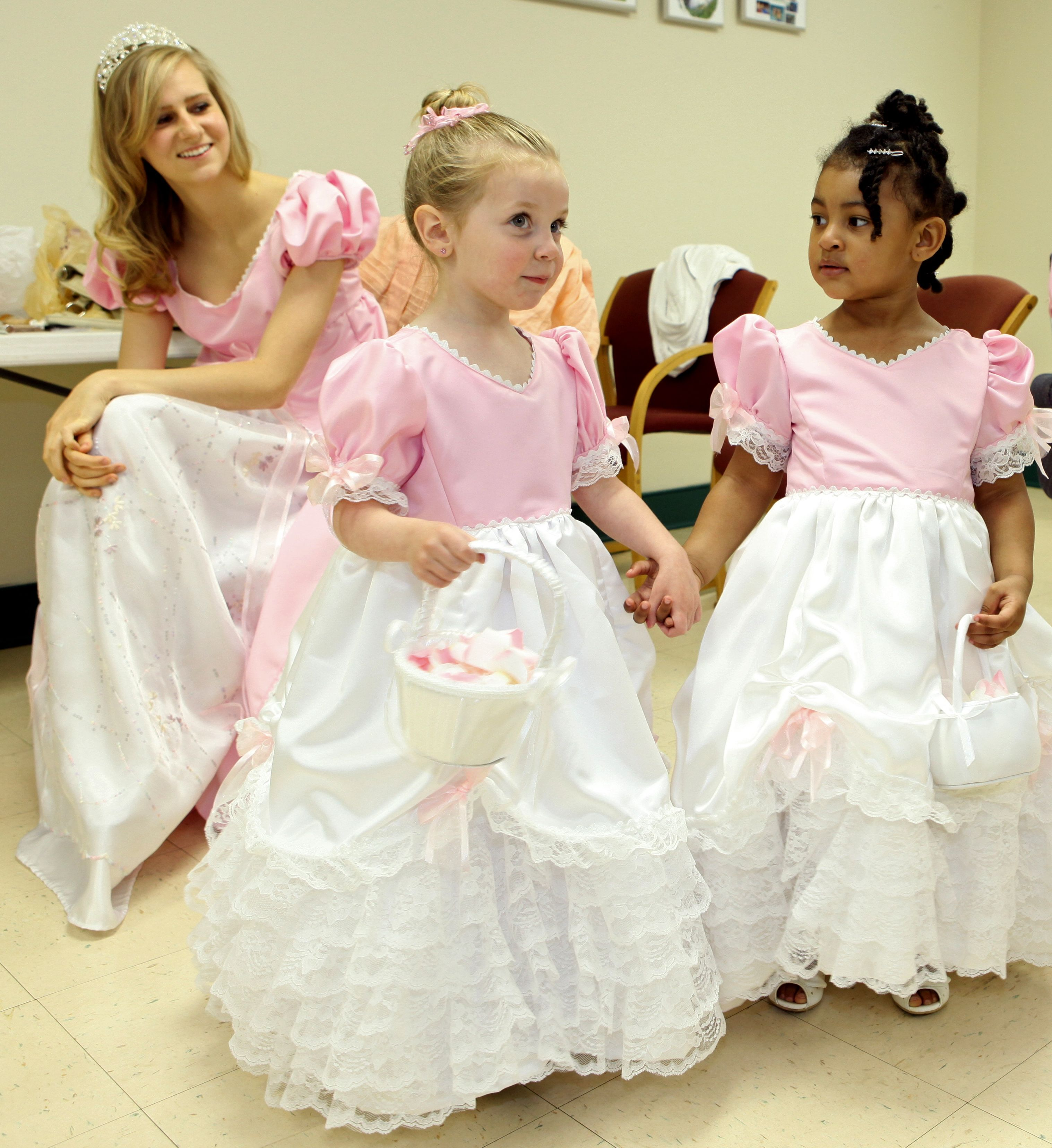 One of the bridesmaid dresses and the 2 flower girl dresses i made one of the bridesmaid dresses and the 2 flower girl dresses i made for my sons ombrellifo Gallery