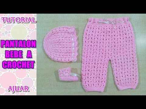 DIY como tejer pantalon para bebe a crochet, ganchillo AJUAR ...