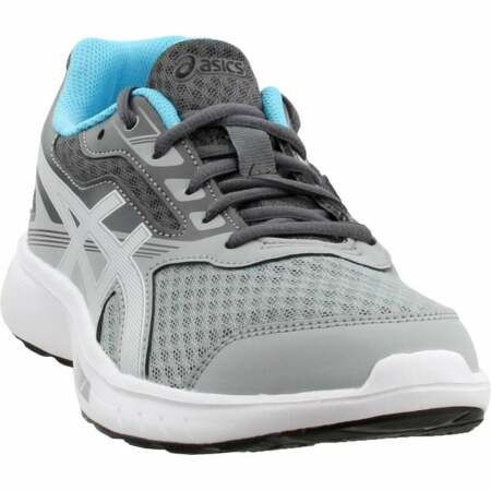 asics stormer casual running neutral shoes grey womens