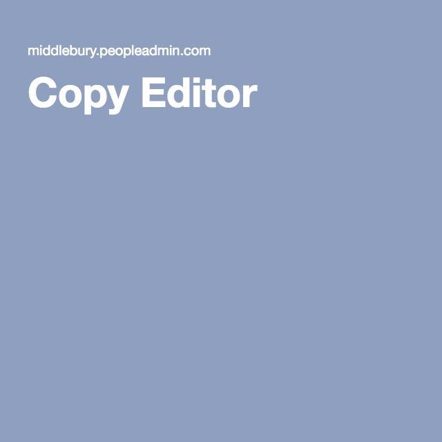 Copy Editor  New Job    Copy And Editor