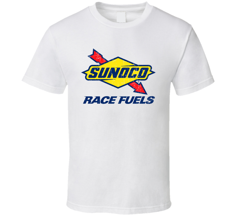 Sunoco Race Fuels Auto Automobile Car Truck Motorcycle Parts Cool Distressed Style Brand Logo Emblem T Shirt Brand Logo Emblem Logo Graphic Apparel