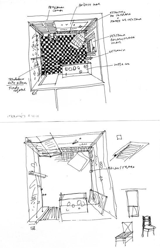Dibujos murales presentación accesorios / Jacobo Pérez-Enciso