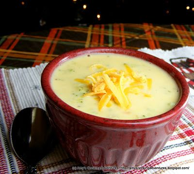 Amy's Cooking Adventures: Broccoli Cheese Soup